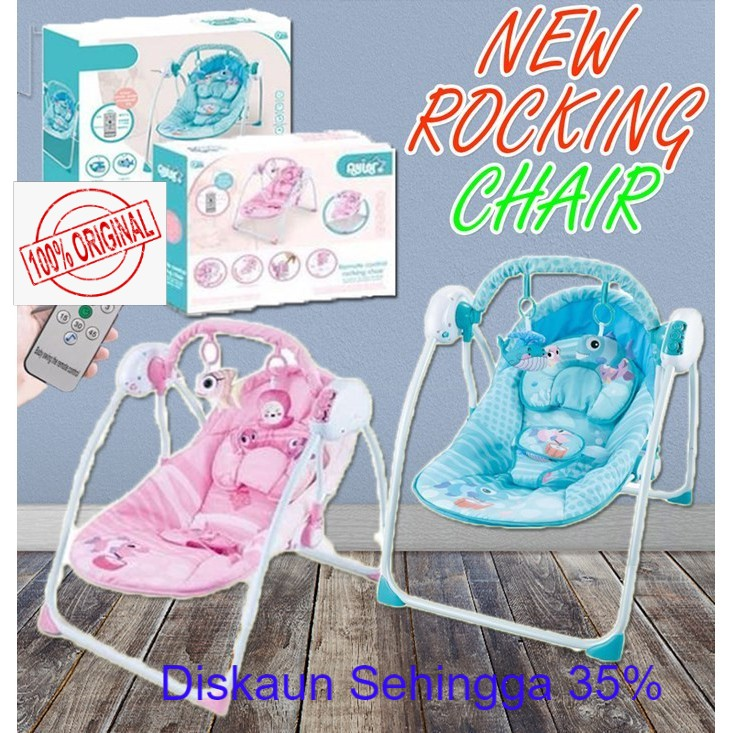 New Auto Baby Rocking Chair Swing Rocker With Remote Control & Mosquito Net [READY STOK] Malaysia