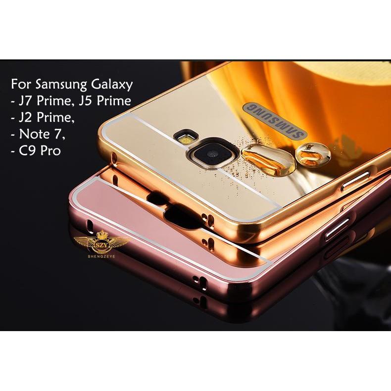free shipping 3f9d3 a133b Samsung Galaxy J2 J5 Prime Mirror Cover Case Casing housing