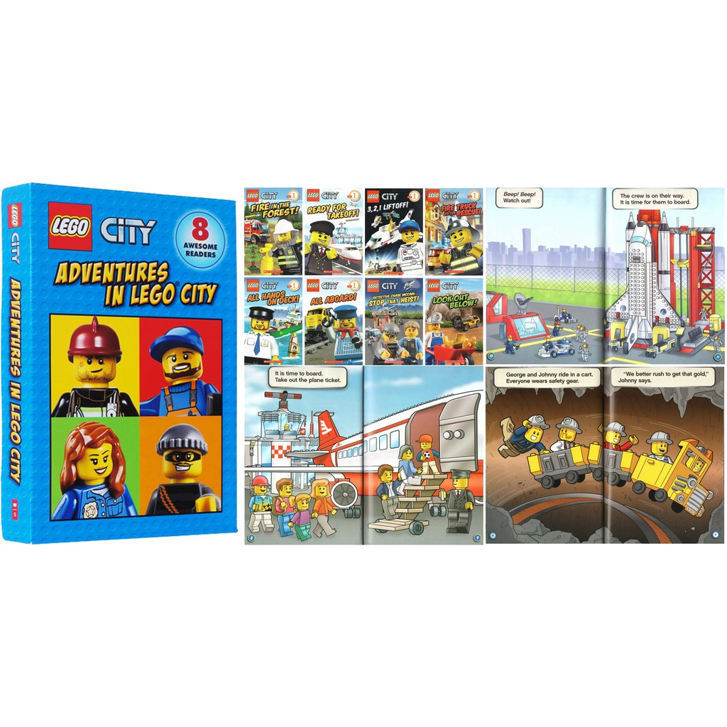LEGO CITY: Adventures In Lego City Readers Collection (8 BOOKS) (Ready  stock)