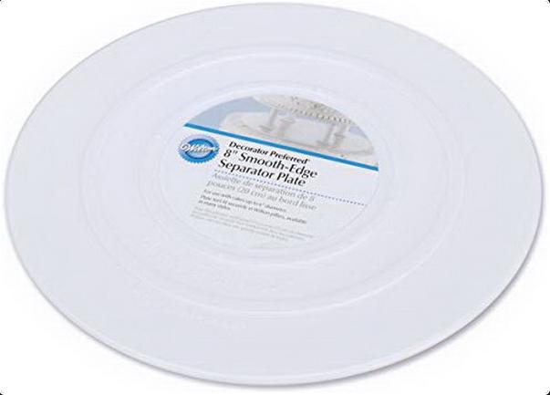 "Separator Plate - Round, Smooth Edge, 8"""