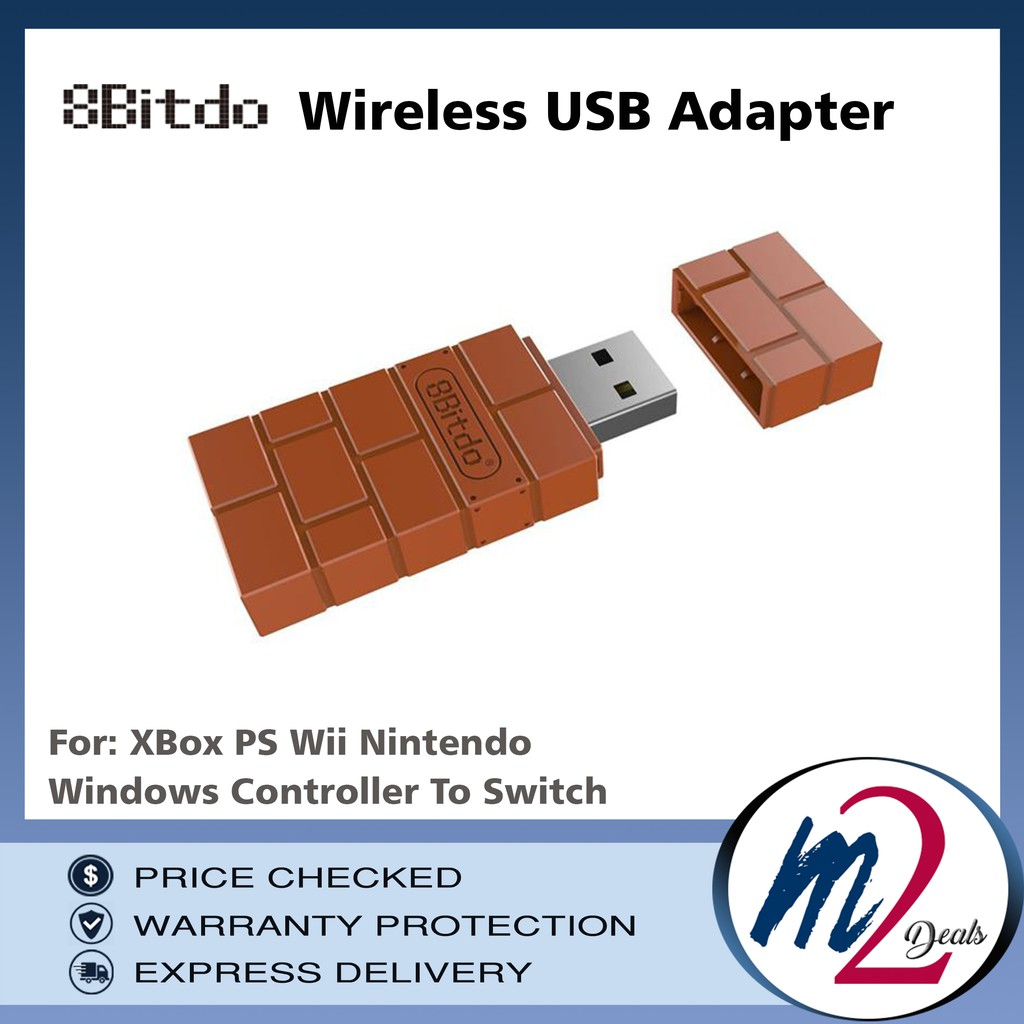 8Bitdo Wireless USB Adapter XBox PS Wii Nintendo Windows Controller To  Switch