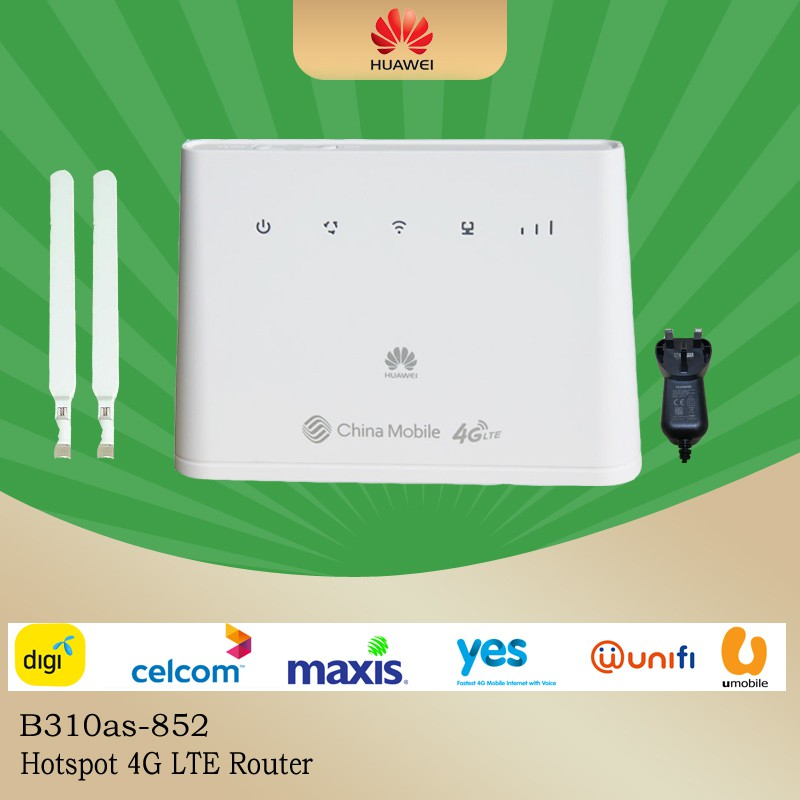 Modified Unlimited Hotspot Huawei B310 4G Router B310AS-852 4G LTE to WIFI  Router