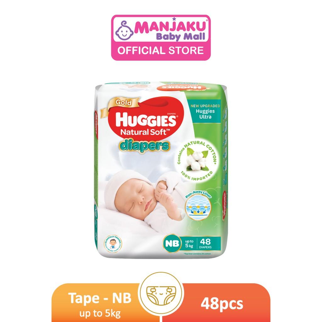 Huggies Natural Soft Diaper Jumbo  Pack - NB/S