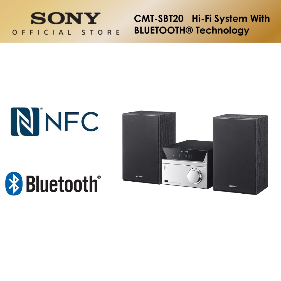 Sony CMT-SBT20 Hi-Fi System with Bluetooth Technology