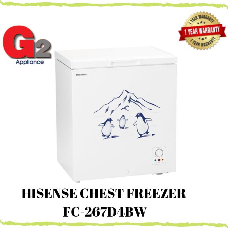 HISENSE CHEST FREEZER (230L) FC-267D4BW - (Ready Stock+Fast Shipping)