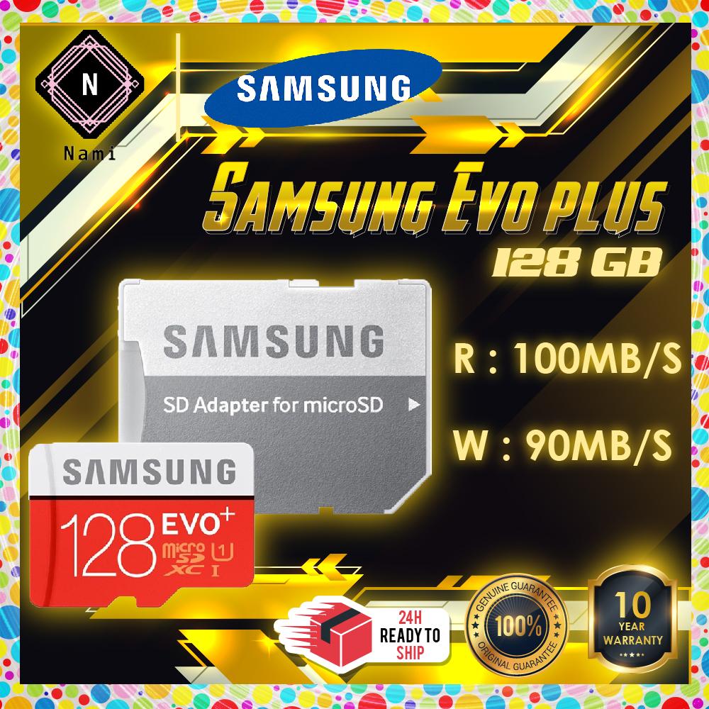 Samsung EVO Plus Class 10 128GB microSDHC Micro SD Card with Adapter (10 Years Warranty)