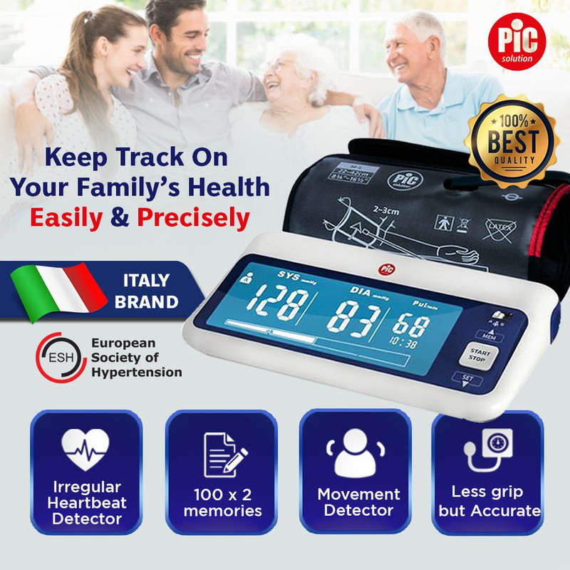 PIC Solution Clear Rapid Blood Pressure Digital Monitor + Hot/Cold Therapy Gel