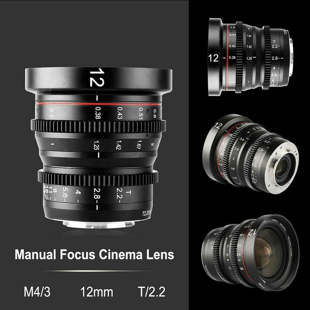 Meike MK 16mm T2.2 Large Aperture Manual Focus Prime Low Distortion Mini Cine Lens Compatible with Micro Four Thirds M4//3 MFT Olympus//Panasonic Lumix Cameras and BMPCC 4K Zcam E2