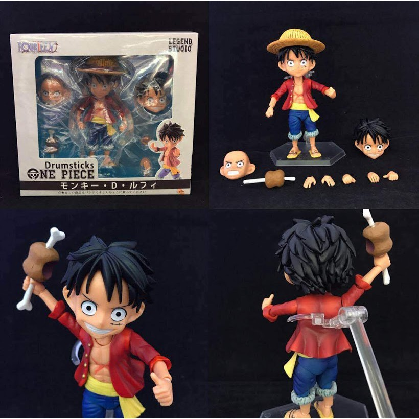Anime One Piece Monkey D Toys & Hobbies Luffy Combat Version Rubber Gun Action Figure Collectible Model Toys Gift