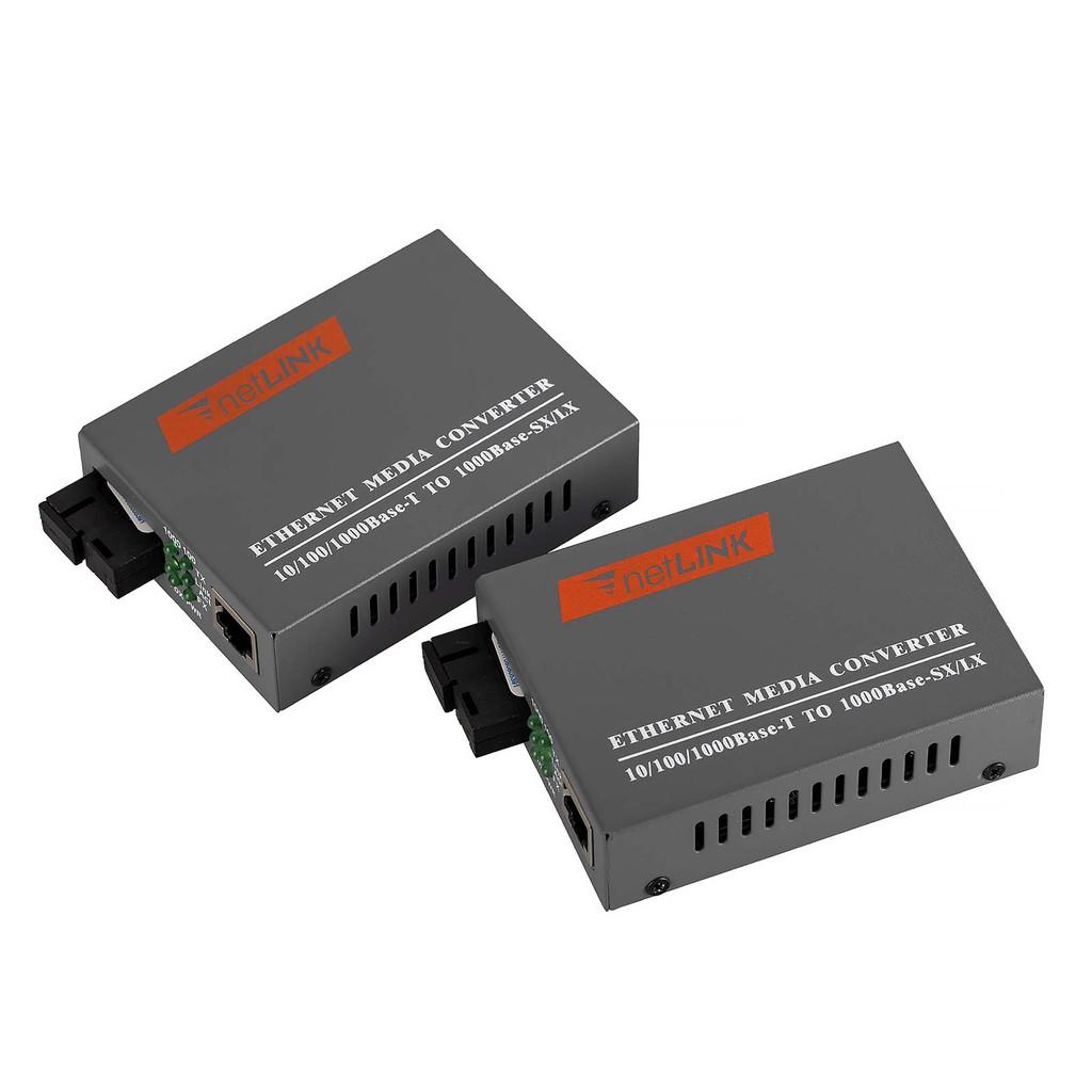 100/1000Mbps LAN Network RJ45 To SC Fiber Optical Converter 20KM  Transmission