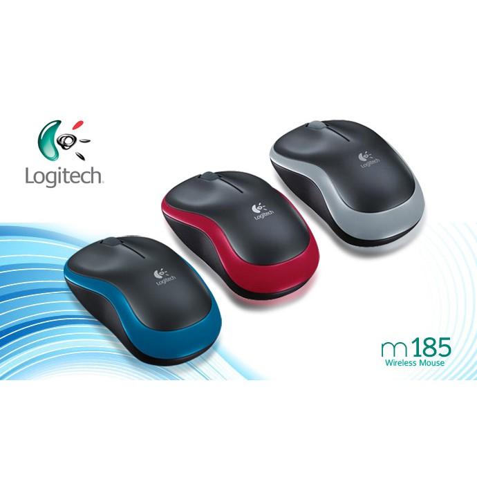 LOGITECH Wireless Mouse M185   Shopee Malaysia
