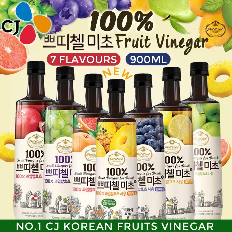 Korea CJ Petitzel Fruity Fruit Vinegar Drink (900ml)
