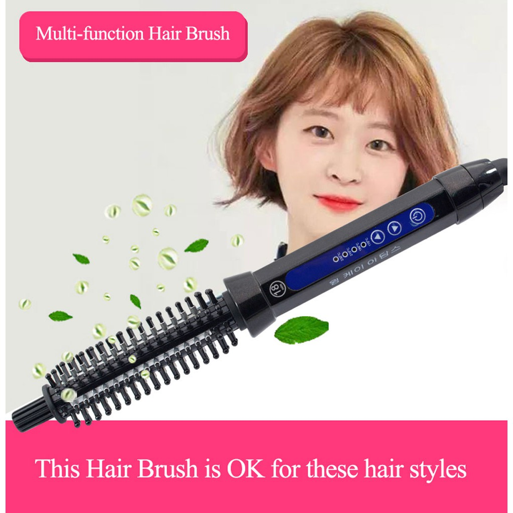 Korea Hair Curling Brush Comb Curling Iron Ceramic Hair Curler Straightener Men Short Hair Big Wave Electric Hair Styling Tool Shopee Malaysia