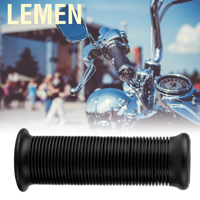 Pair of 1inch 25mm Universal Motorcycle Vintage TPU Handle Handlebar Grip White Aramox Motorcycle Handle Grip