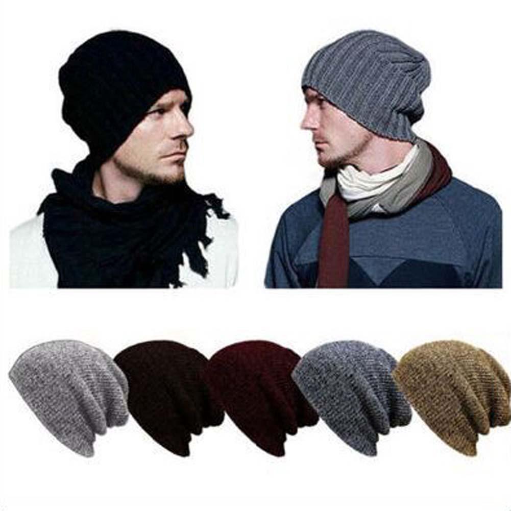 Knit Winter Women Men Beanie Hat Oversize Slouchy Baggy Unisex Ski Cap Skull NEW