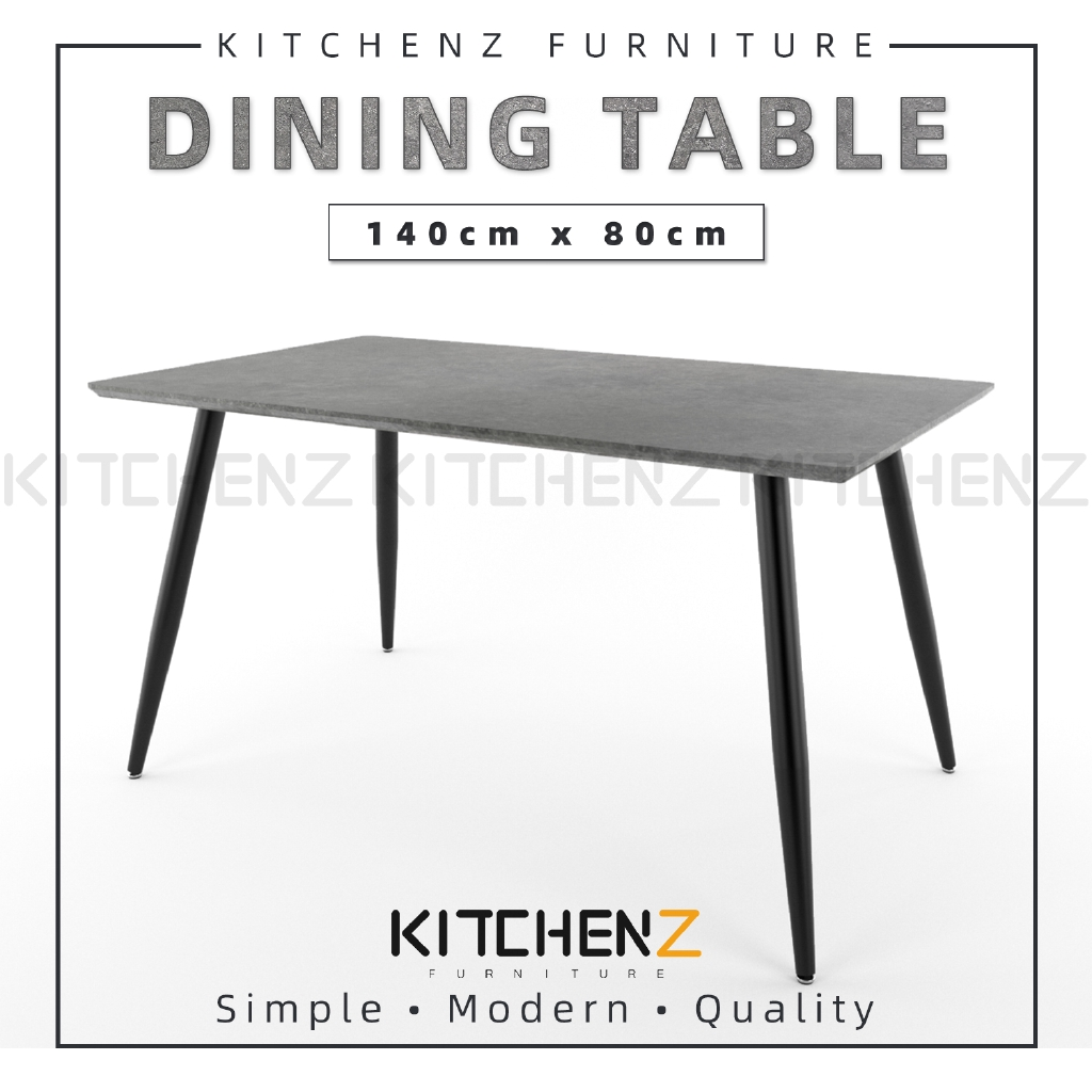 Kitchenz Modern Contemporary Dining Table-HMZ-FN-DT-JT01(14080)-GY