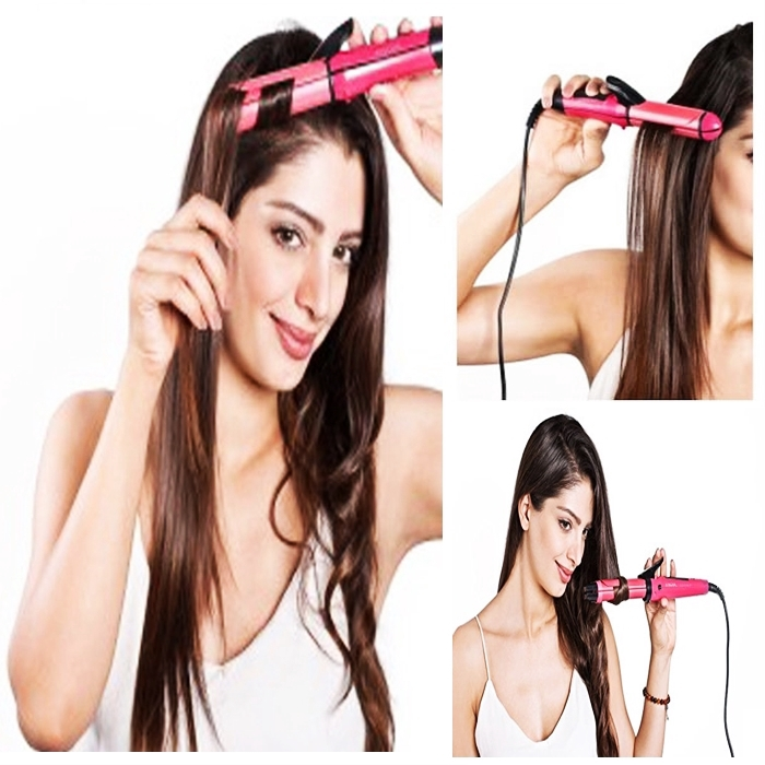 READY STOCK] 2 DLM 1 LURUS RAMBUT KERINTING RAMBUT Nova 2in1 Hair Straightener Curling Set