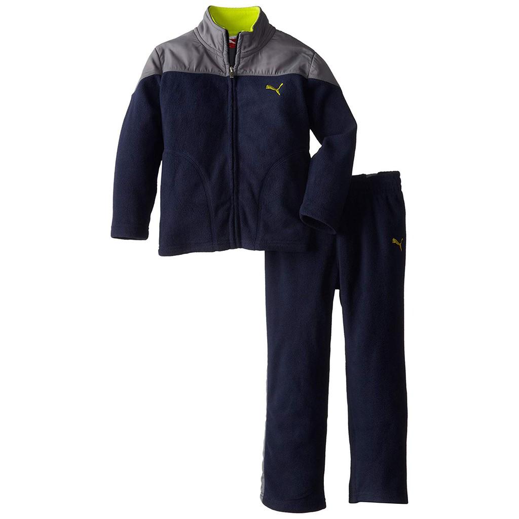 fc96d79e6dd7 PUMA Little Boys' Curve Polar Fleece Set: Clothing