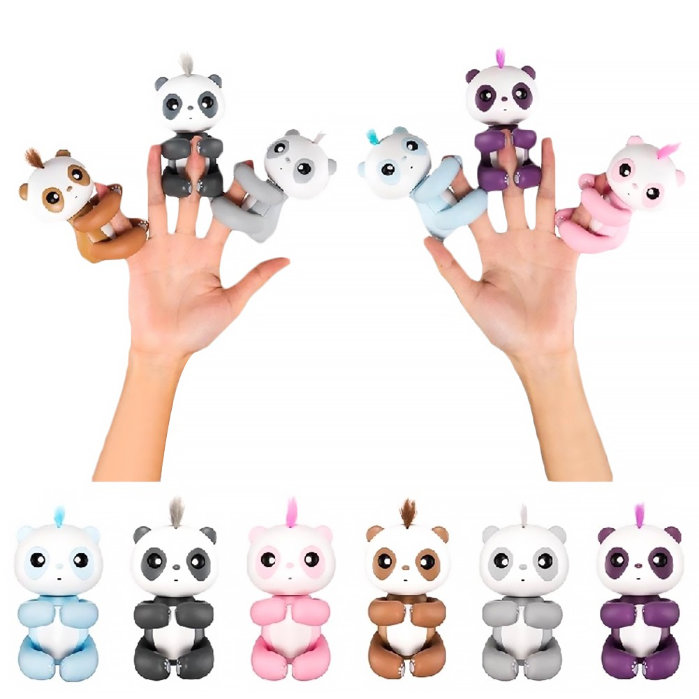 Baby Finger Panda Sound Monkey Motion Hanger Interactive Electronic Pet Toy Gift