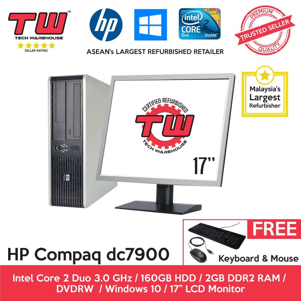 HP dc7900 Core 2 Duo Desktop PC(Refurbished) + Windows 10 Home +  17