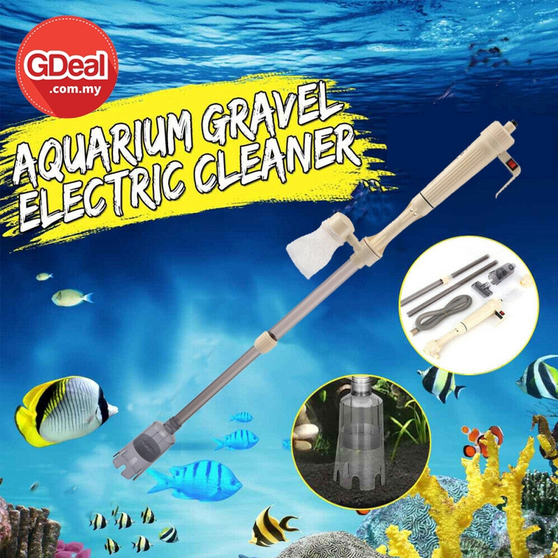 GDeal Multi Purpose Aquarium Battery Water Pump Cleaning Appliance Fish Tank Cleaner Kit