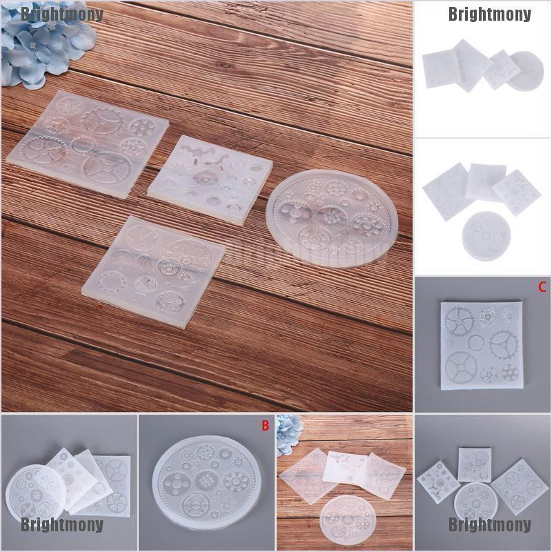 Resin Punk Gear Silicone Mold Jewelry Making Mould Epoxy Pendant Craft DIY PF