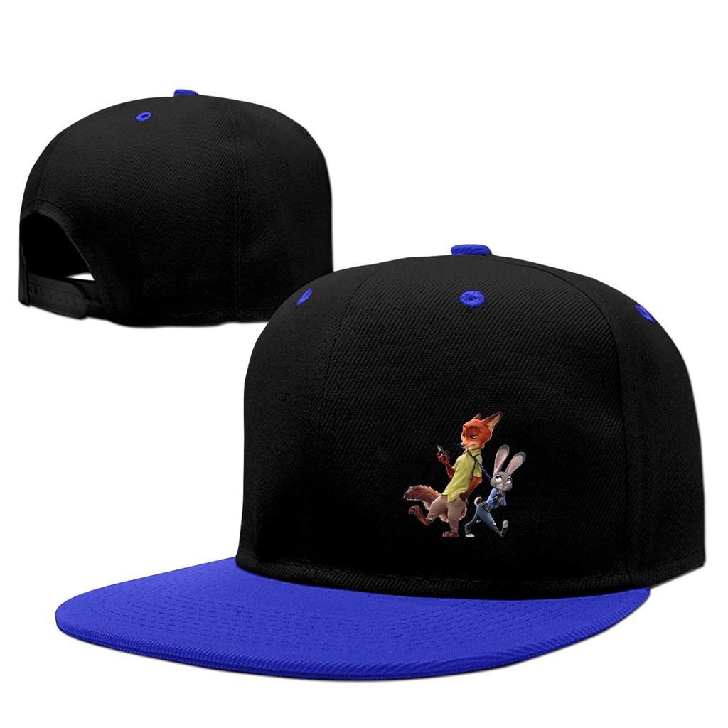 487fe1bfe637 Nick and judy Zootopia Snapback Hip Hop Baseball Caps Hat
