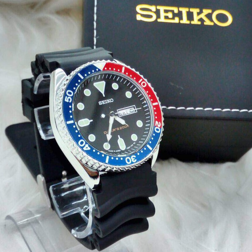 SEIKO 5 WATCHES FOR UNISEX (RED BLUE)