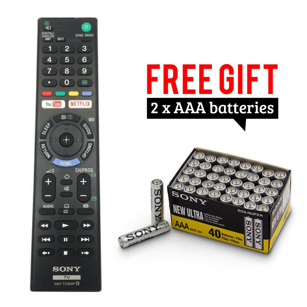 [ZT] RMT-TX300P - REMOTE CONTROL FOR BRAVIA LCD / LED / SMART / ANDROID  SONY TV