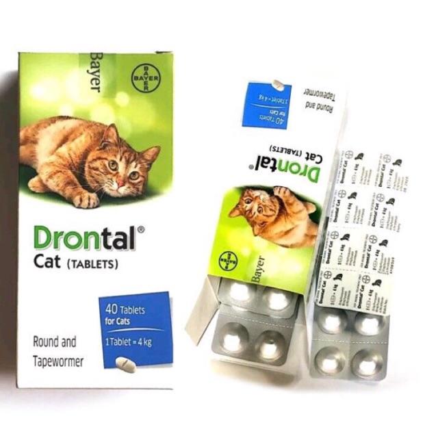 Ubat Cacing Kucing Bayer Drontal Cat Dewormer 1 Tablet