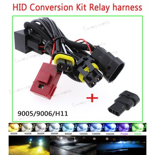 H1 H8 H9 H11 9005 9006 880 881 Relay Wiring Harness Xenon