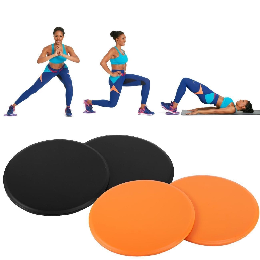 2x Dual Sided Fitness Gliding Discs Core Sliders for Home Gym Abs Leg Workouts