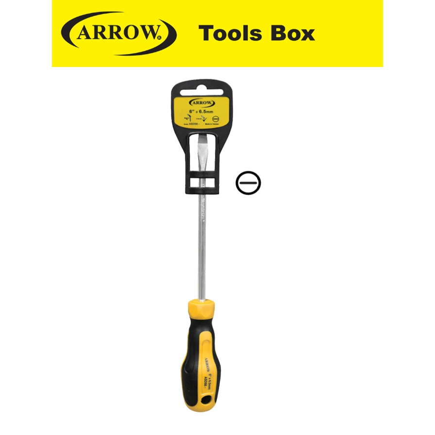 ARROW SLOTTED HEAD ( - ) ASD SERIES HIGH GRIP SCREWDRIVER   EASY USE SAFETY GOOD QUALITY