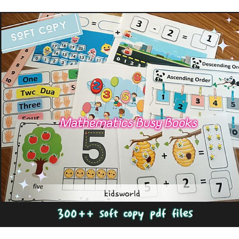 Bundle 300++ Soft Copy Mathematics Busy Books + Worksheet / Mathematics  Quiet Books / Activity Book Printable PDF Files Shopee Malaysia