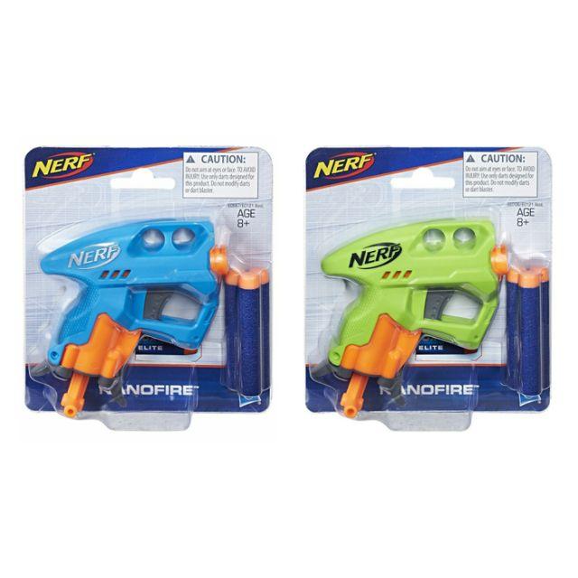[GREAT DEAL] Hasbro Nerf Nanofire Battle Dart Blaster Gun Toy Best Gift For  Boy / Kids (Blue / Green)