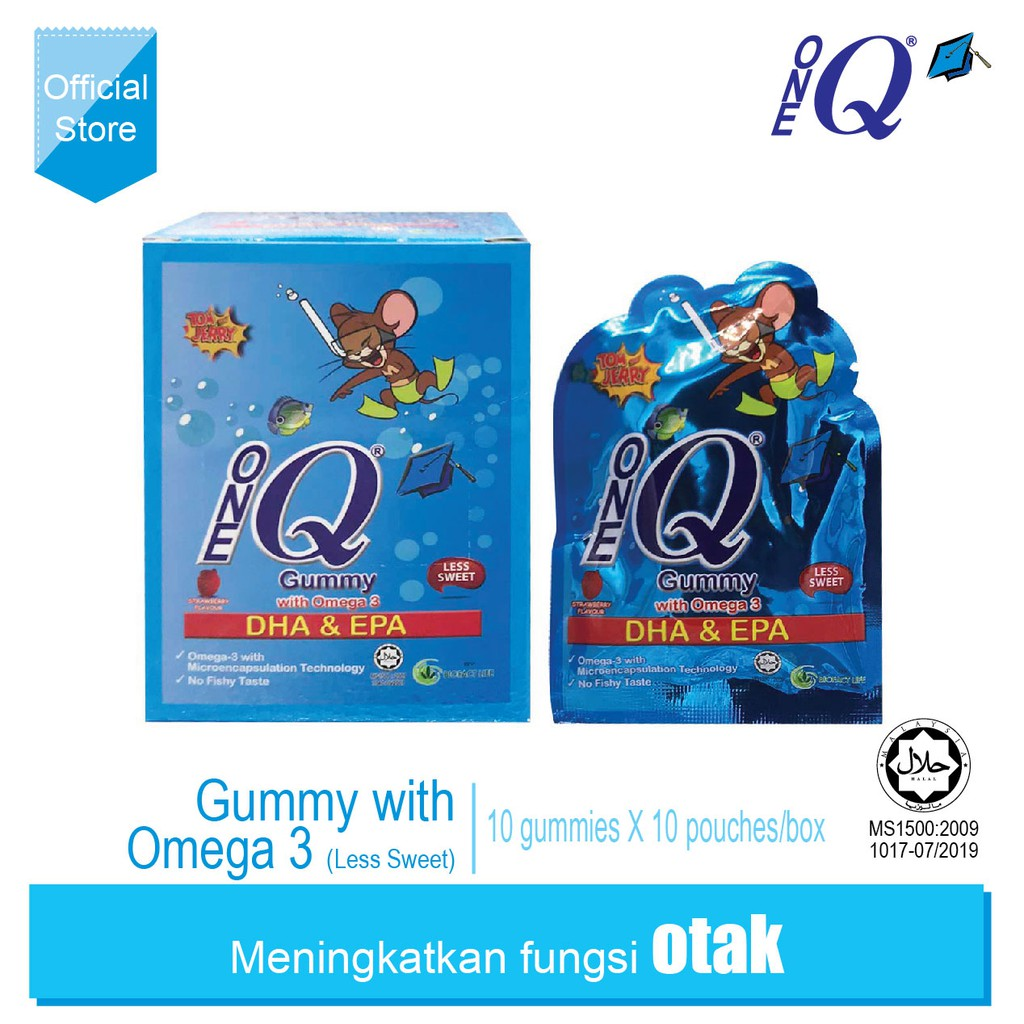 ONE Q Gummy with Omega 3 (less sweat)
