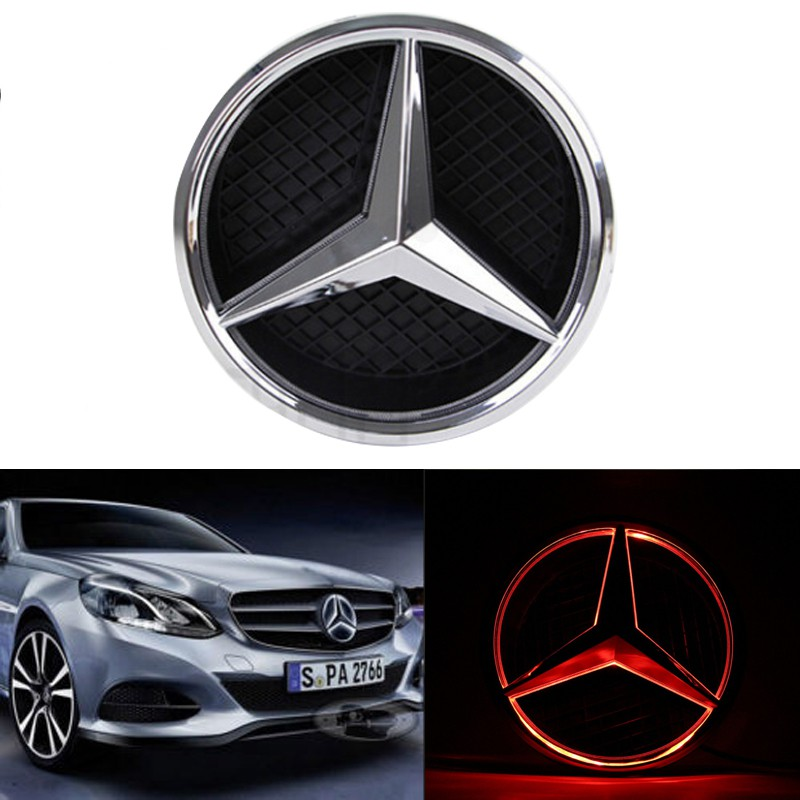 Can be customized logo Car Front Grilled Star Emblem LED Illuminated Logo Center Front Badge Lamp Light for Mercedes Benz