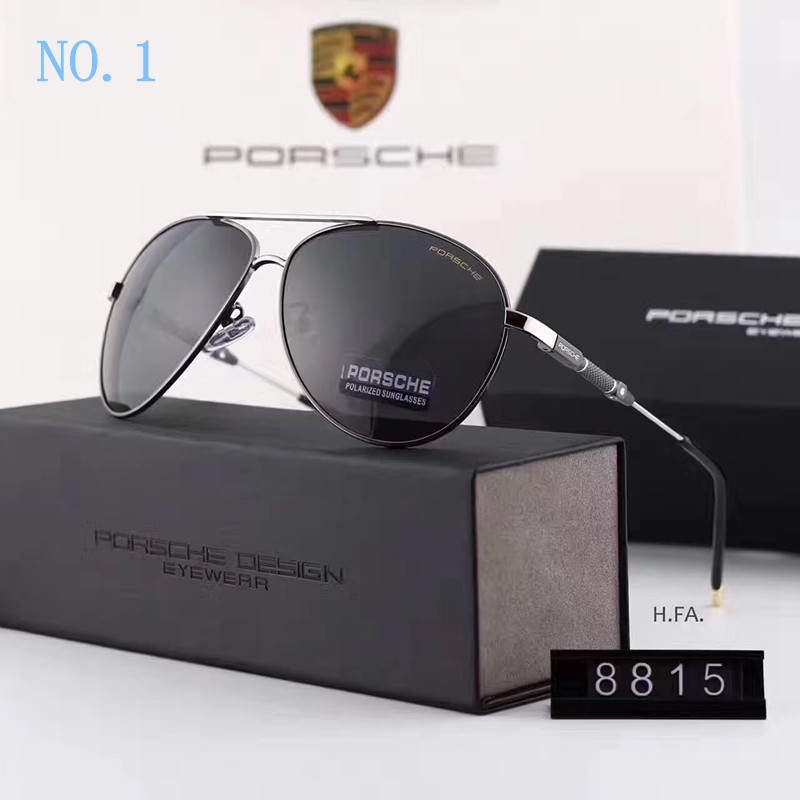 1213a5e1c9 2017 men Porsche polarized sunglasses Stainless Steel plate frame eyeglass  8815