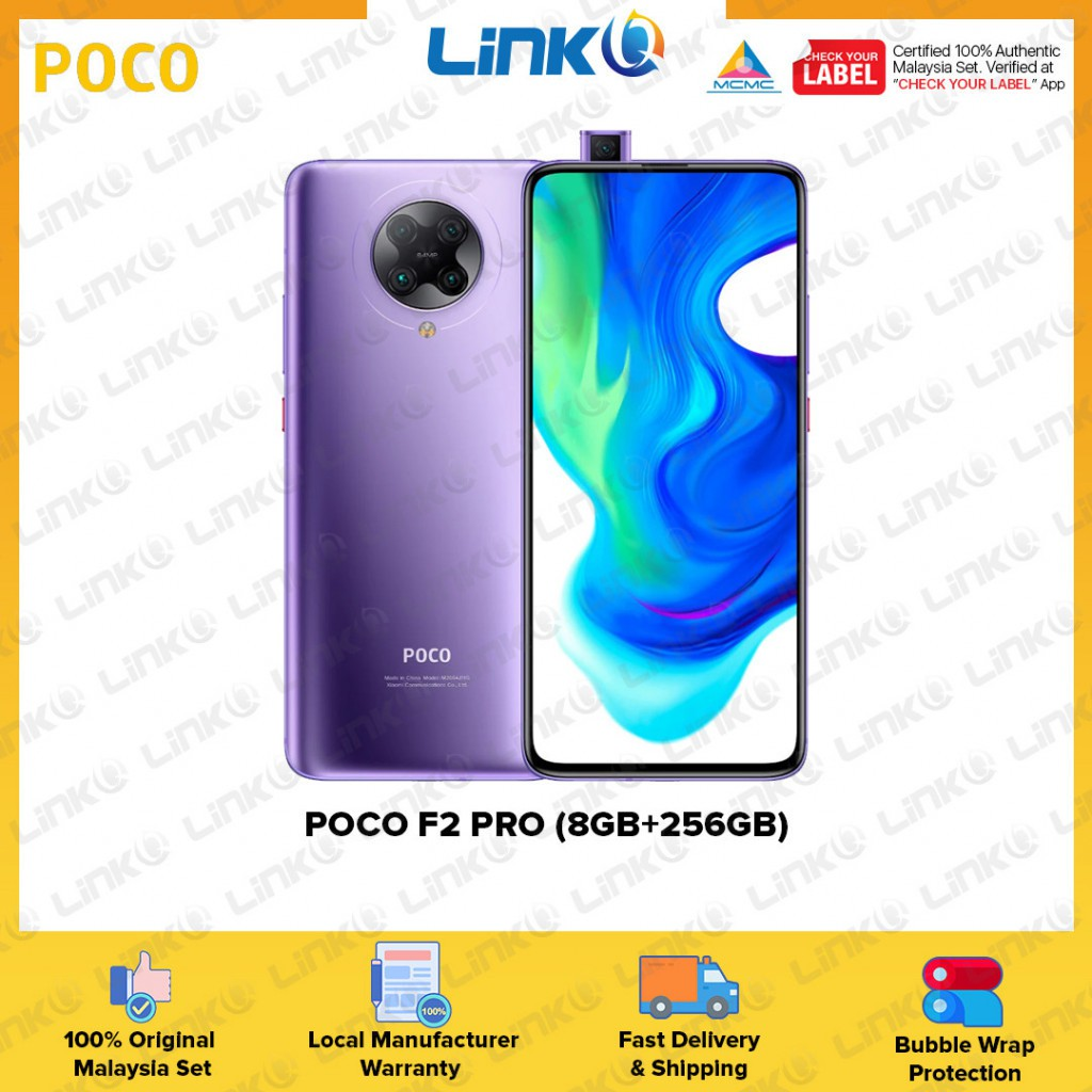 POCO F2 Pro 5G (8GB RAM + 256GB ROM) Smartphone - Original 1 Year Warranty by POCO Malaysia (MY SET)