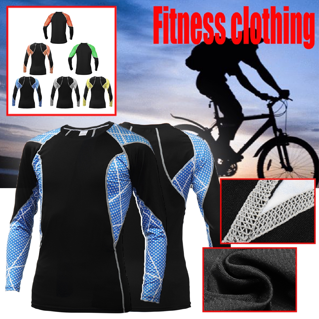 Breathable Lightweight Quick Dry Compression Shirts Bodybuilding Skin Tight