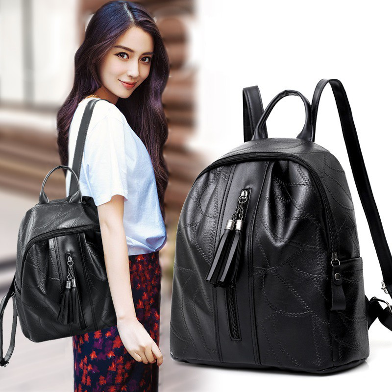 264a702db1537 READY STOCK HOT Korea Canvas Backpack School Laptop Bag