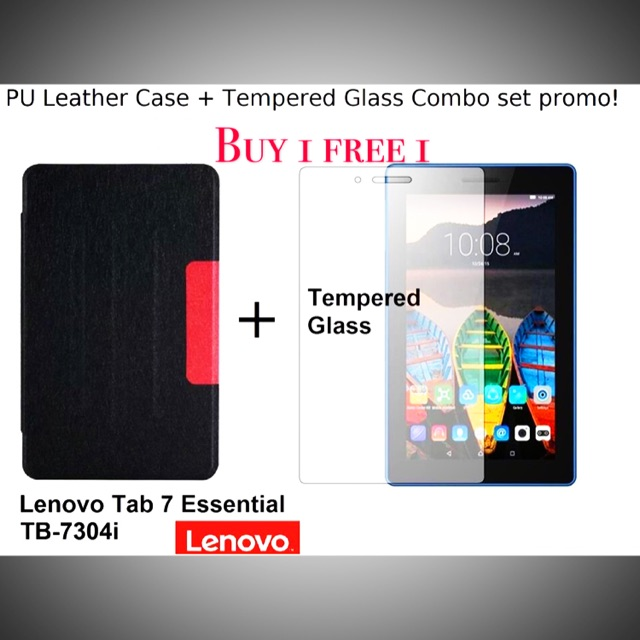 lenovo Tab 7 Essential TB-7304 Flip cover pouch bag free tempered glass