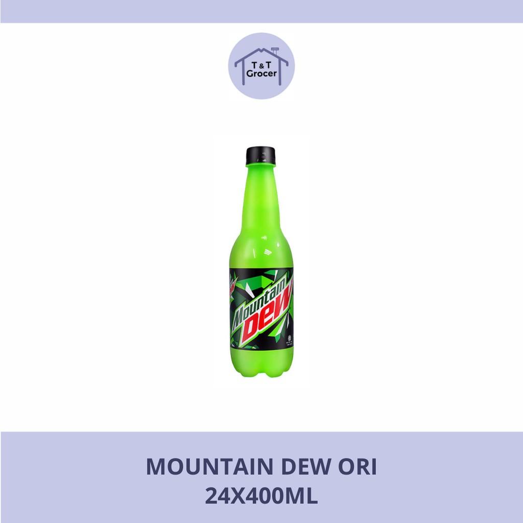 Mountain Dew Hijau / Pitch Black (24x400ml / 12x1.5L)
