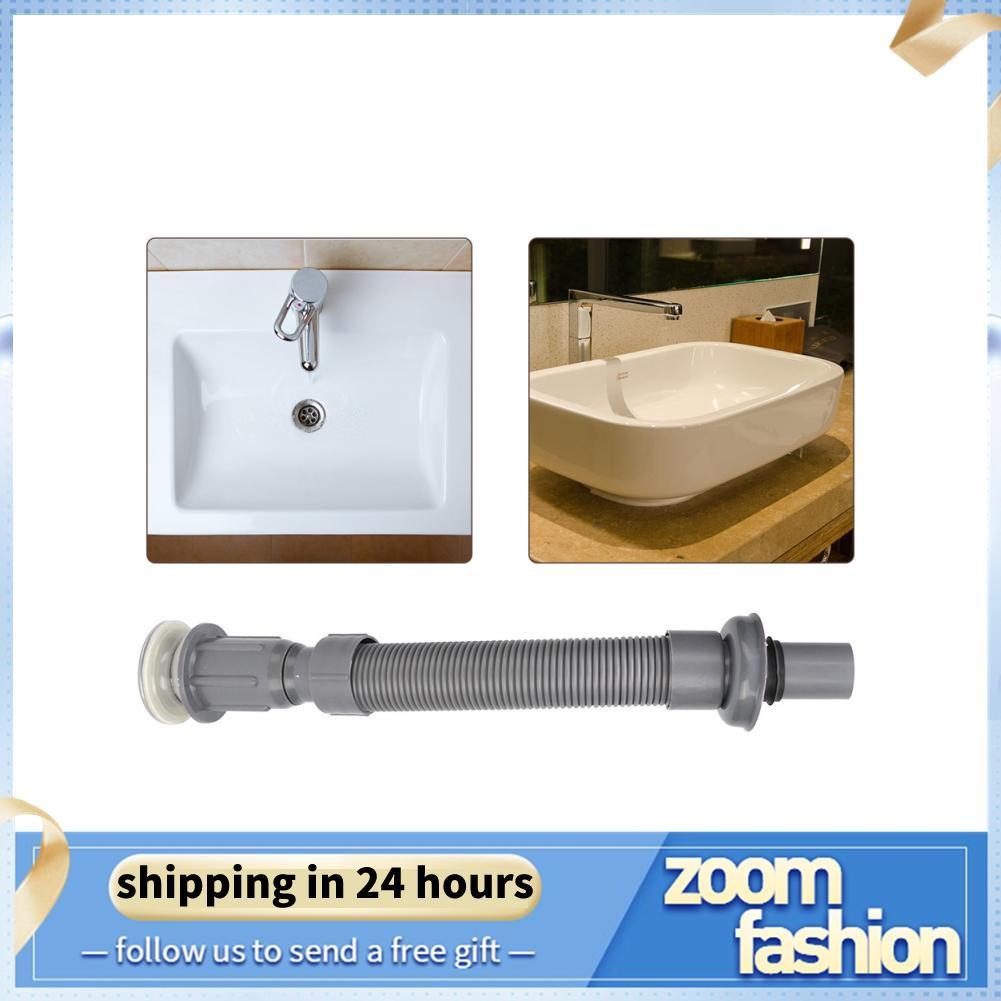 Zoomfashion Bathroom Universal Wash Basin Sink Drain Pipe S Tube Down Waste Plumbing Accessories Shopee Malaysia