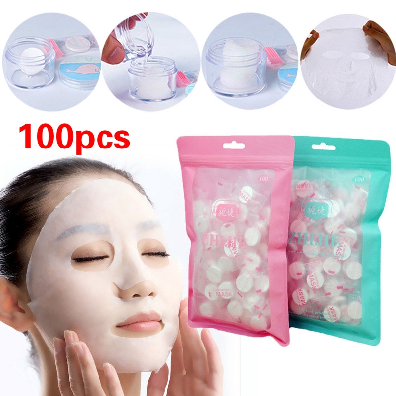50 pcs compressed facial mask sheet silk beauty diy disposable paper