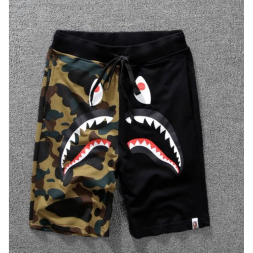 8d6c2c78 Sportlife Bape stitching tiger shark mouth five-prong pants | Shopee  Malaysia