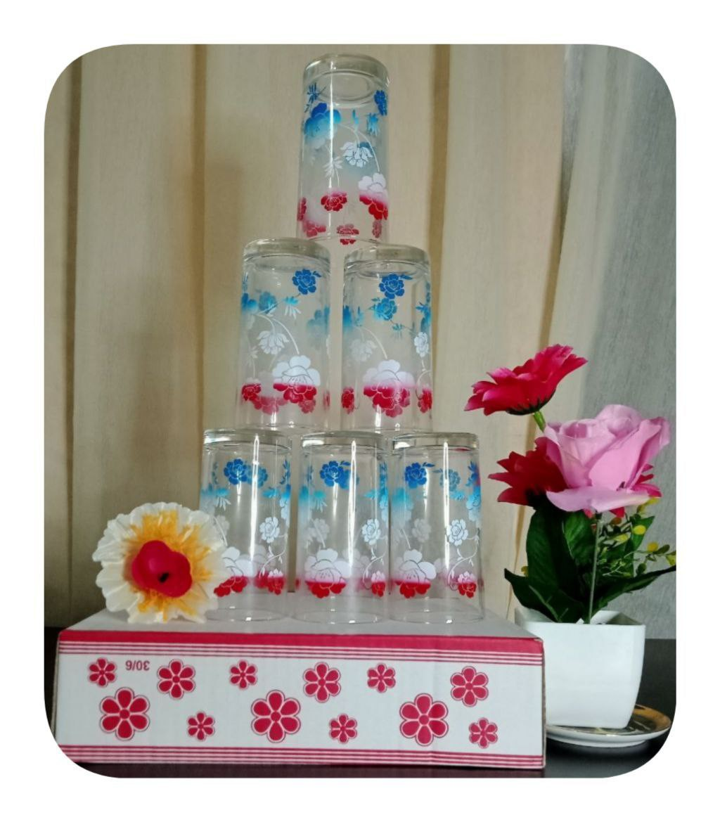 SET GLASS 6 IN 1 VIRAL | SET GELAS BERKUALITI DAN MURAH| ANNARI 19
