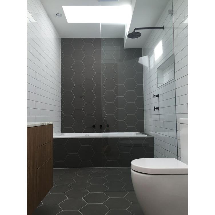 Black Matt Hexagon Wall And Floor Tiles
