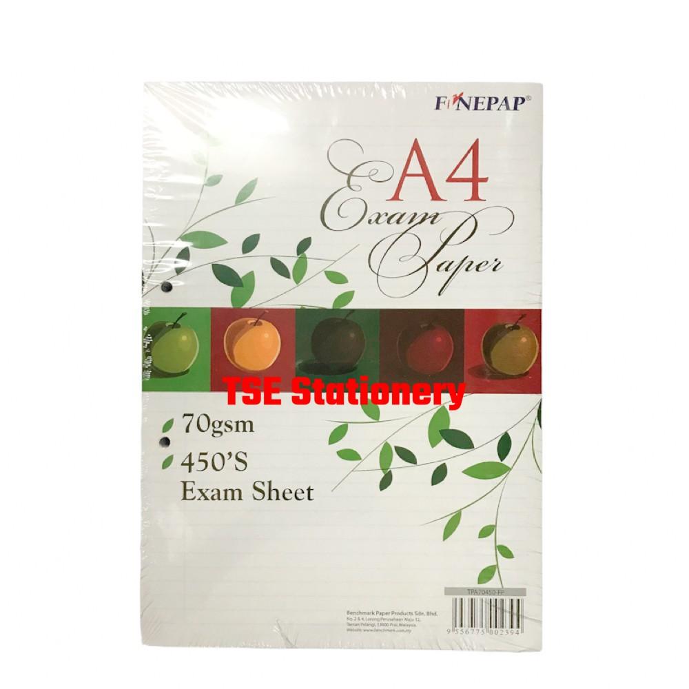 A4 70gsm 450Sheets / 480Sheets Test Pad | Test Sheet | Exam Pad | Foolscap Paper | Ruled Paper l Kertas Kajang