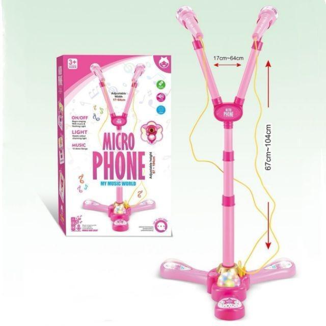 [ READY STOCK ]  Electric Karaoke Microphone Singing Music Baby Toy Birthday Gift Kid Budak Mainan Jualan Murah Raya Led